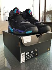 Air Jordan 8 Retro Aqua Size 5.5y  Excellent Barely Worn Condition.