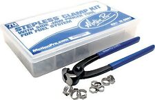Stepless Fuel Lines Fitting Clamp Kit Motion Pro  12-0083