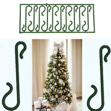 10X Small Green Christmas Ornament tree Hook Decoration Hanger Wire  LE