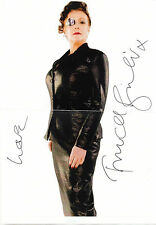 ENGLISH ACTRESS FRANCES BARBER HANDSIGNED 12 x 8 B&W PROMO PHOTOGRAPH