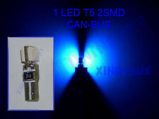 Lamp LED T5 2 SMD 5050 BLUE 3 chips socket for all glass DASHBOARD CANBUS