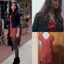Kimchi Blue Silky Sabrina Shirt Dress SA Red ASO Elena Gilbert Medium