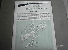 VINTAGE SPRINGFIELD MODEL 1873 .45-70 RIFLE  ILLUSTRATION SHEET (LAMINATED)