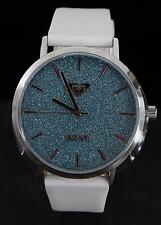 Roxy The Royal Blue Sparkling Dial White Silicone Rose-Gold Watch RX/1008BLSV