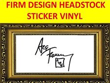 STICKER FIRM BLACK ACE FREHLEY KISS DESIGN VISIT MY STORE FOR GUITAR & BASS