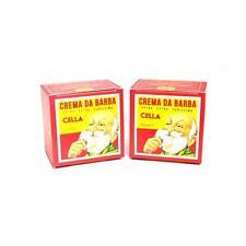 2 Saponi crema da barba Cella 150 ml a base di olio di mandorle  2 pezzi