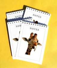 Giraffe With It's Tongue Sticking Out Pack of 4 A6 Note pads Set Wild Animals