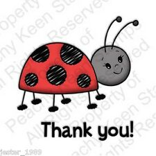 Peachy Keen Stamps LADY BUG THANK YOU PK-M12