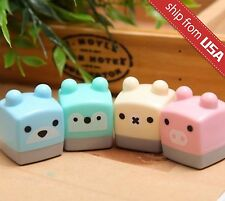 Lot 2pcs Kawaii Cute Bear Pig Pencil Sharpener Cartoon Stationery School Supply