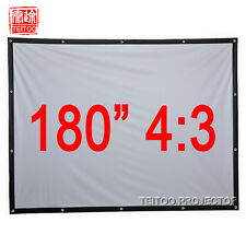 """180""""4:3 Hanging Fabric Portable Outsides Projection Screen for Any HD Projectors"""