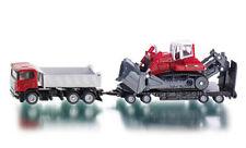 Siku Super 1854 Truck w/ Nooteboom Trailer & Liebherr PR 764 Compact Excavator