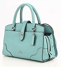 COACH Mercer 24 In AQUA Grain Leather 37779 NWT SOLD OUT!
