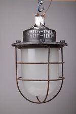 60er LOFT Gitterlampe Industrielampe Bunkerlampe alt Industrial LAMP vintage old
