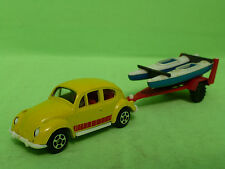 PLAYART  VW VOLKSWAGEN KAFER BEETLE - + BOAT TRAILER - made in Hong Kong - NM