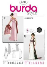 BURDA SEWING PATTERN LADIES JOSPHINE FANCY DRESS SIZES 10 - 22 2493