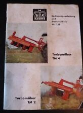 Krone Mähwerk TM 2 + TM 4 Anleitung und Ersatzteilliste