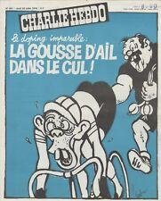 """""""CHARLIE HEBDO N°401 du 20/7/1978"""" CABU : DOPING """"LA GOUSSE D'AIL DANS LE CUL !"""""""