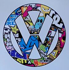 VW logo car van window sticker vinyl decal Volkswagen sticker Stickerbomb