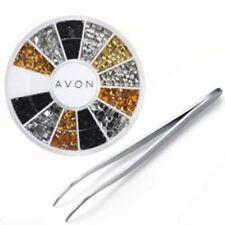 BNIP _ Nuevo Avon Arte en Uñas Gemas & el aplicador _ RRP £ 7 _ manicura _ Pedrería Bling