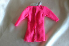 Barbie doll hot pink long sleeve jacket top shirt silver trim clothes