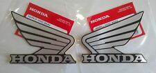 Honda  Wing Fuel Tank Decal Wings Sticker 2 x 90mm SILVER & BLACK 100% GENUINE