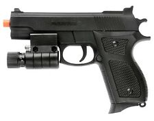 Spring Airsoft Pistol Hand Gun w LED Laser Sight Flashlight + 6mm BBs BB