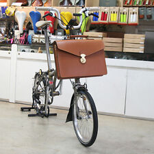 Naborsa Brompton bicycle bag Honey Genuine Leather front bag briefcase Camel