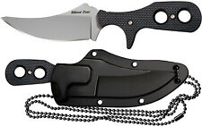 Cold Steel Mini Tac Skinner Fixed Blade Knife w/ Secure-Ex Neck Sheath 49HSF