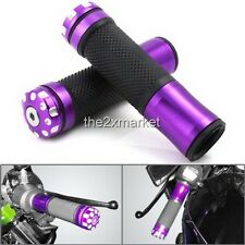 "Purple Rubber 7/8"" Handle Bar Hand Grips For Yamaha YZF R1 R6 MT-01 MT-03 XJR"