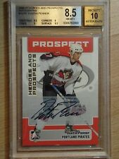 06-07 BAP-ITG HEROES & PROSPECTS DUSTIN PENNER GRADED AN 8.5 WITH 10 AUTO