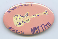 JEFFERSON AIRPLANE Byrds B.B. King Ultra Rare 1970 BACKSTAGE PASS Pinback Button