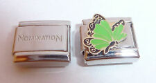 GREEN BUTTERFLY 9mm Italian Charm +1x Genuine Nomination Classic Link N11 AUGUST
