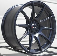 17X8.25 XXR 527 WHEELS 5X100/114.3 RIM 35MM FLAT BLACK FITS CIVIC TYPE R MAZDA 6