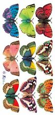 ~ Butterflies Butterfly Insect Colourful Bright Craft Scrapbooking Stickers ~