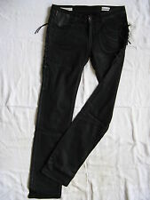 We Are Replay Damen Jeans Black Stretch W30/L34 low waist regular fit waxed wash