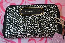 Victoria's Secret Black Bling Phinestones iPhone 5 Purse Wallet Wristlet Bag New