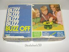 Vintage Buzz Off Electronic Bingo Board Game COMPLETE Lakeside Games 1973 RARE