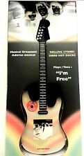 "Rolling Stones ""I'm Free"" Guitar Musical Christmas Ornament - Rock-N-Roll"
