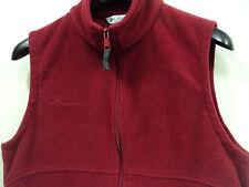 Columbia Sportswear Women FullZip Fleece Vest Size Lg Red