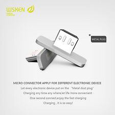 WSKEN 2pcs Ultra Small Magnetic Metal Micro Connector For Android Smartphone New