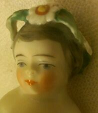 RARE VICTORIAN PORCELAIN FIGURINE NUDE CHILD W/FLOWERS FROM GERMANY?AUSTRIA? #1