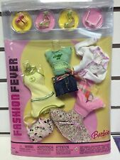 Barbie Fashion Fever 3 Interchangeable Outfits Spring Colors Skirts Purse NRFB