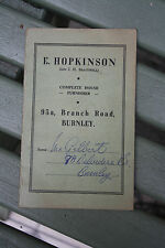 ephemera  VINTAGE    hire purchase HOOVER and RUG ! BURNLEY FILM STAGE PROP B