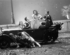 Photo originale Fellini Roma Elisa Mainardi sexy automobile Fiat 503 torpedo