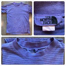 OG Vtg 80s 90s North Face Striped Shirt XL Spell out Hip Hop Tee Logo Supreme