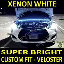 Custom fit Xenon white LED strip light under hood cowl for Hyundai Veloster