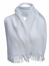 INTERNATIONAL HEADWEAR Scarf Polyester Fleece Mens Soft White 158cm x 23cm
