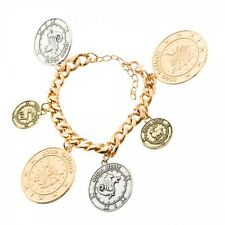 HARRY POTTER GOLD COIN CHARM PENDENT MEDALLION BRACELET SILVER UNUM GRINGOTTS
