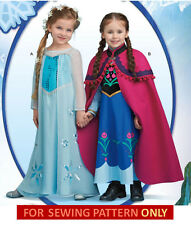 SEWING PATTERN MAKE FROZEN COSTUME~DISNEY PRINCESS ANNA~ELSA! GIRL~CHILD 3~8