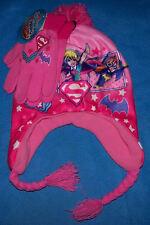 One Size Child Girls DC Super Hero Girls Hat & Glove set